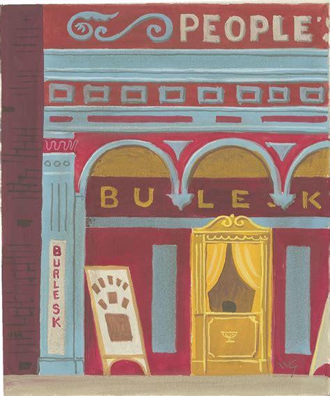 witold gordon gouache burlesk theater modernism