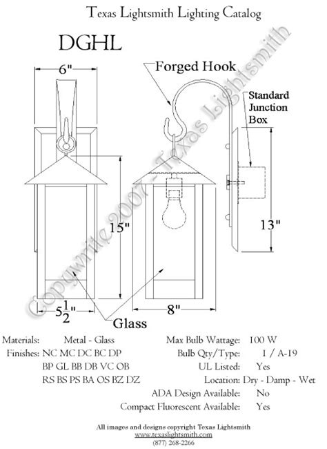 spec drawings lighting page