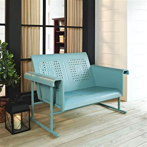 crosley outdoor veranda loveseat glider in assorted colors
