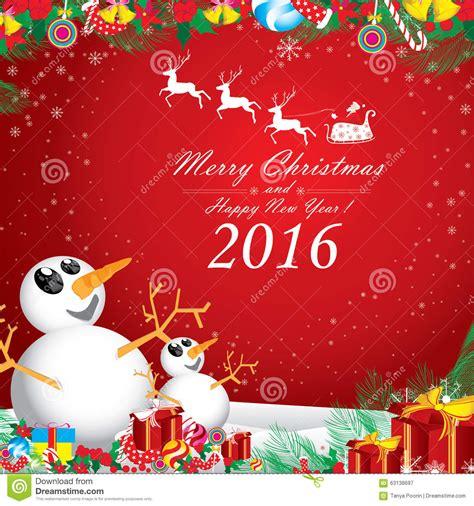 merry christmas  happy  year   snowman