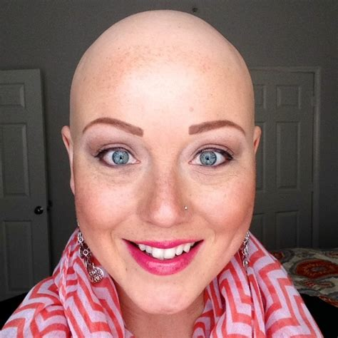 bald  beautiful  message    young girl
