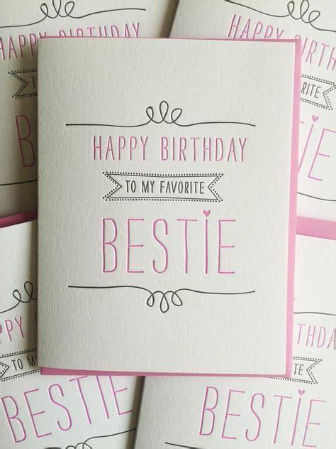 birthday card for best friend card best friend birthday card letterpress birthday card for