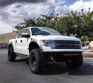 White Lifted Ford Raptor F-150 SVT Truck | Sweet trucks ...
