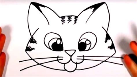 draw  cute kitten face tabby cat face drawing cc