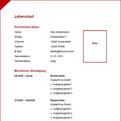 Vordruck Tabellarischer Lebenslauf by Vorlage 37 Tabellarischer Lebenslauf