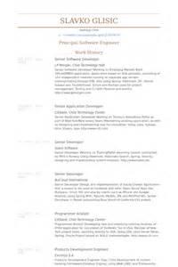 senior software developer resume format senior software developer resume sles visualcv resume sles database