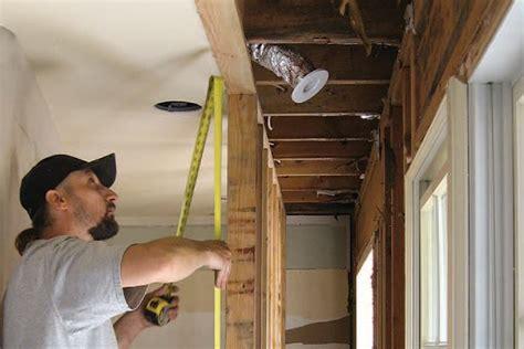 installing  flush flitch plate beam jlc  installation framing lumber