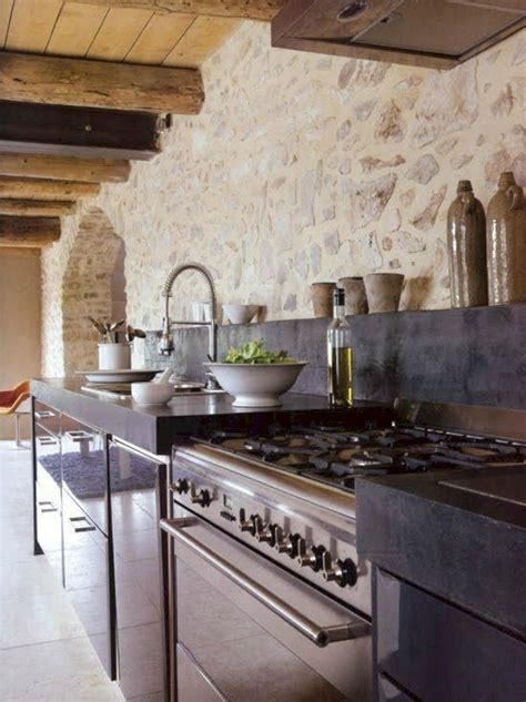 kitchen rustic stone wall kitchen rustic stone wall