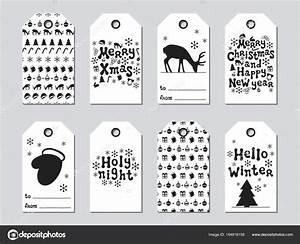 Geschenkanhänger Weihnachten Drucken : geschenkanh nger f r weihnachten und neujahr xmas set karten handgezeichnete elemente ~ Eleganceandgraceweddings.com Haus und Dekorationen
