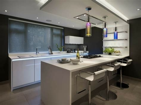cuisiner bar 73 idées de cuisine moderne avec îlot bar ou table à manger