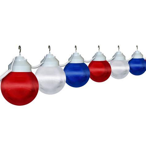 6 quot patriotic globe string light set oogalights com