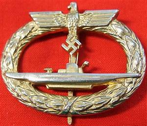 Ww2 German Navy Kriegsmarine U Boat Submarine Badge  U2013 Jb