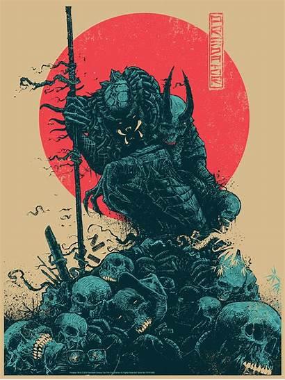 Predator Poster Godmachine 1987 Bottleneck Congratulations Samurai