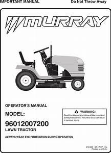Murray 96012007200 Users Manual Mx15538lt E Op 412402 R0