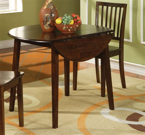 42 inch round dining table espresso round dining table branson double drop leaf 42