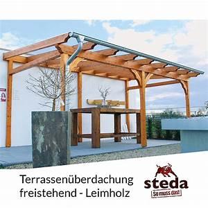 Befestigung überdachung An Sparren : terrassen berdachung holz leimholz 6x4 m 600x400 cm freistehend steda ebay ~ Orissabook.com Haus und Dekorationen