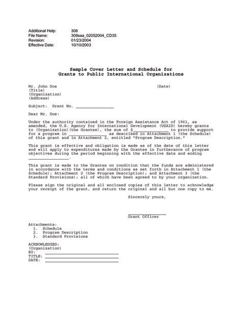 cover letter for international organization