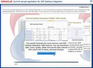 Introduction to the ADF Desktop Integration Sample ...