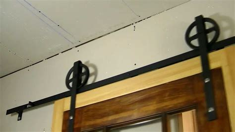 custom interior flat track sliding barn door diy youtube