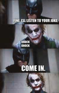 Batman and Joker Knock Knock Joke Meme