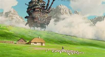 Anime Ghibli Castle Studio Moving Howl Miyazaki