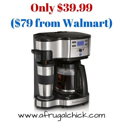 Amazon: Hamilton Beach Single Serve Coffee Maker with Full Pot Option Only $39.99!