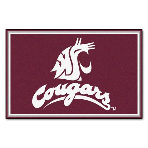 Washington State University 5 Ft X 8 Ft Area Rug, Team