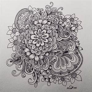 flower cluster doodle | KcDoodleArt