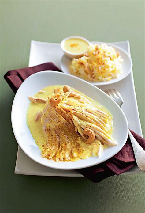 cuisine aile de raie recette aile de raie au curry