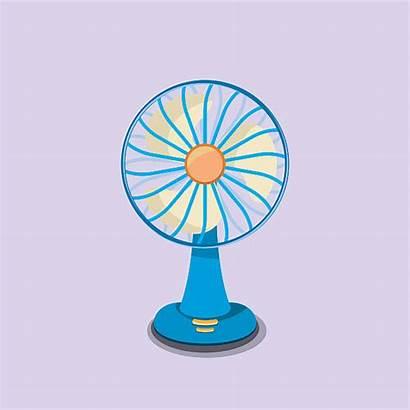 Fan Electric Vector Clip Illustrations Cartoons Graphics