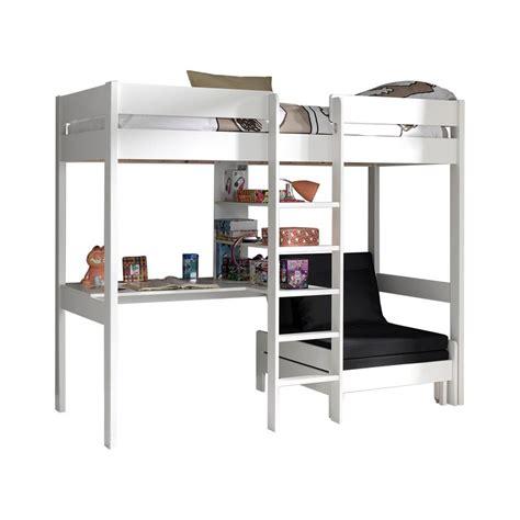 lit superposé canapé acheter le lit mezzanine lena blanc