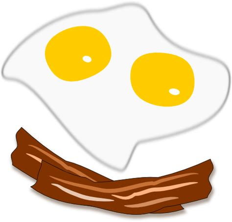 Sunny side up eggs and bacon sketch by John LeMasney via ...