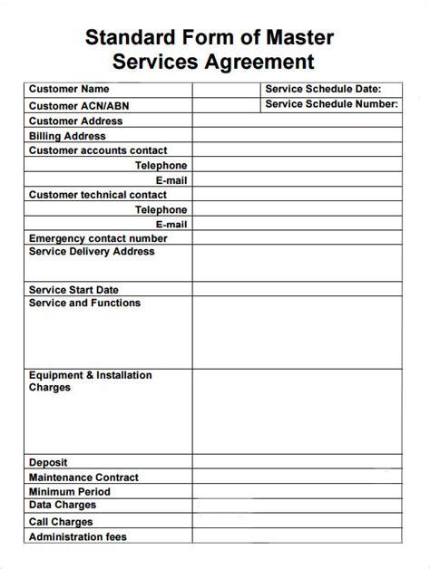 sample master service agreement templates sample
