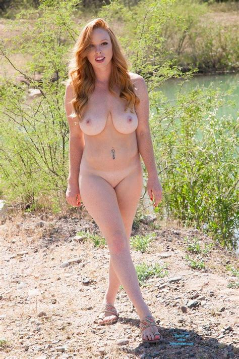 Naughty Redhead Naked Outdoor March 2016 Voyeur Web