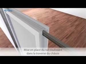 Comment Poser Une Porte A Galandage En Renovation : comment poser une porte coulissante navibloc youtube ~ Melissatoandfro.com Idées de Décoration