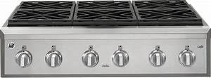Ge Cgu366sehss 36 U0026quot  Natural Gas Rangetop With 6 Edge