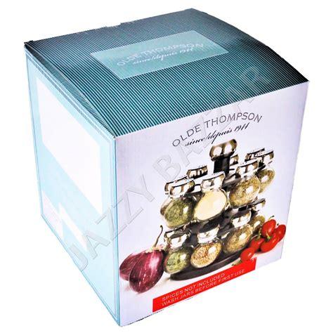 Olde Thompson 16 Jar Orbit Spice Rack by Olde Thompson Orbit Spice Rack 16 Glass Herb Spice Jars