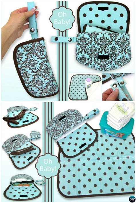 baby changing pad travel diaper clutch bag sew pattern