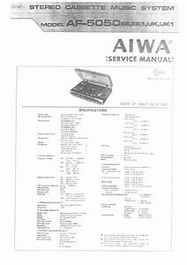 Aiwa Af5050 Service Manual