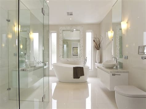 innovative bathroom ideas modern bathroom design with freestanding bath using frameless glass bathroom photo 165450