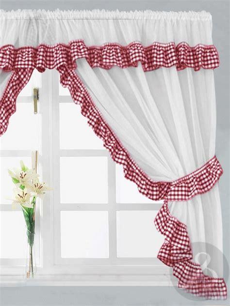 red  white striped kitchen curtains trendyexaminer