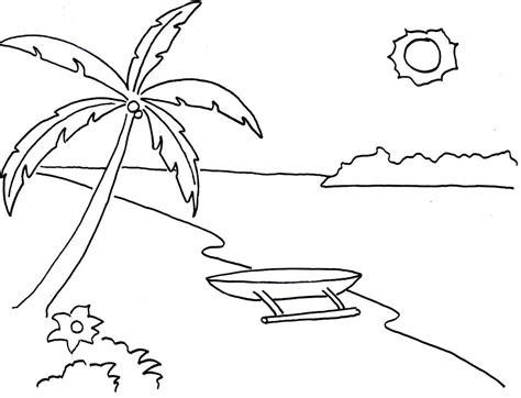 Download gambar mewarnai pemandangan laut untuk anak anak. 5 Cara Mudah Mewarnai Pemandangan Alam & Kumpulan Gambar ...