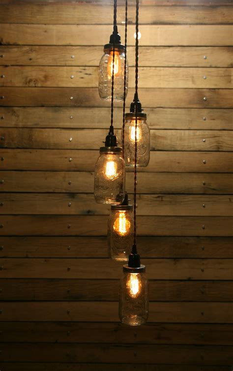how to hang pendant lights diy 5 jar pendant light mason jar chandelier by