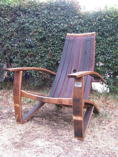 adirondack chair plans wine barrel  woodworking
