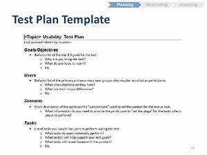 usability testing fundamentals With usability test plan template
