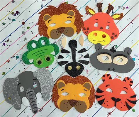 Mascaras En Fomi Foami Fomy De Animales De La Selva