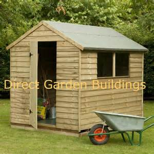 8ft x 6ft pressure treated wooden garden shed 2 windows