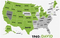 America's Most Popular Boys' Names Since 1960, in 1 ...