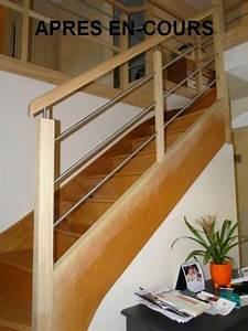 Rénovation de rampe d'escalier Rennes Ille et Vilaine