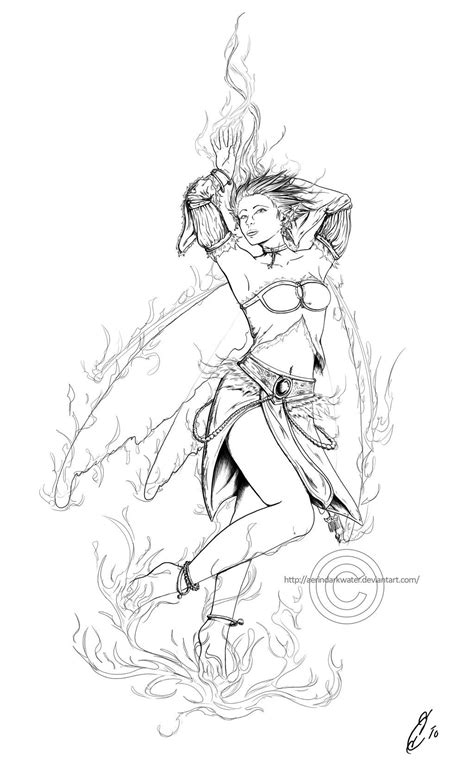 Sexy Adult Coloring Pages   elemental fairy Colouring